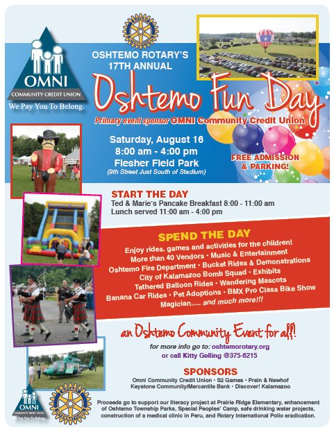 Oshtemo Rotary Fun Day 2014